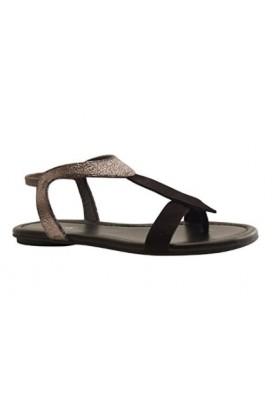 sandale bernie peau metal