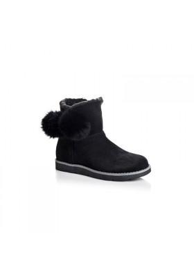 Boots Iris Pompon Peau