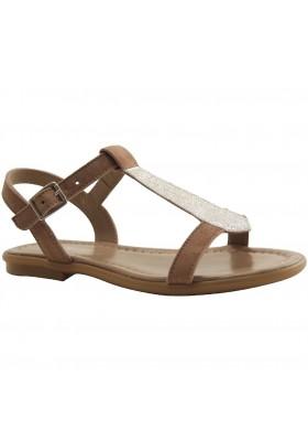 sandale-toupie peau metal